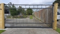 Affordable Option - MANOR Style (Flat top) Sliding Gate. Click ""